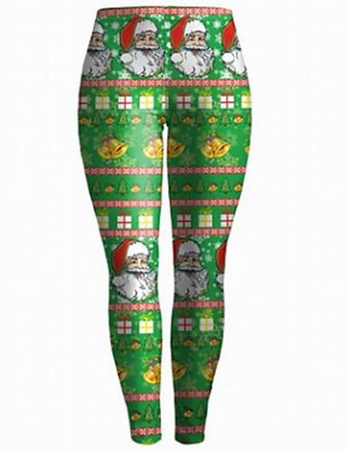 Damen Boho Mittlere Hüfthöhe Micro-elastisch Chinos Skinny Hose Druck
