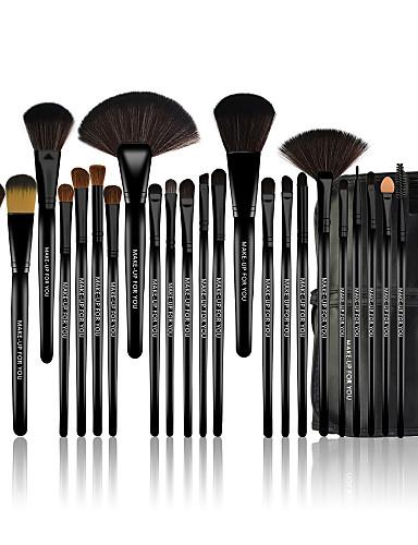 abordables Make-up For You-Profesional Pinceles de maquillaje Sistemas de cepillo 24pcs Antibacteriano Pincel de Poni / Caballo / Pincel de Fibra Artificial Pinceles de Maquillaje para Set de Pinceles de Maquillaje