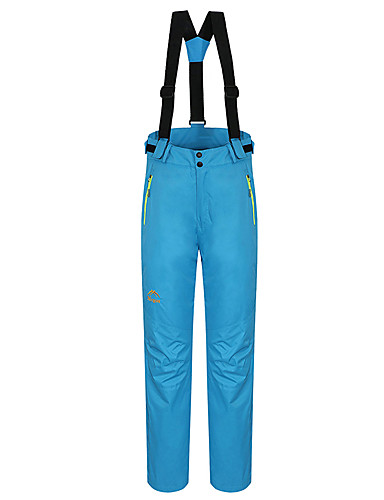 cheap Hiking Trousers & Shorts-Women's Hiking Pants Convertible Pants / Zip Off Pants Outdoor Waterproof Thermal / Warm Windproof Fleece Lining Winter Pants / Trousers Bib Pants Camping / Hiking Hunting Ski / Snowboard Red Blue