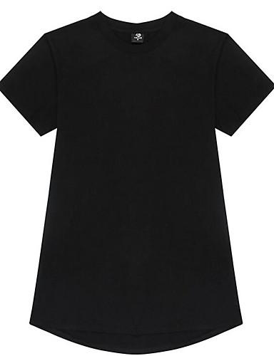Herren Solide Einfach Ausgehen T-shirt,Rundhalsausschnitt Alle Saisons Kurzarm Mehrfarbig Baumwolle Mittel