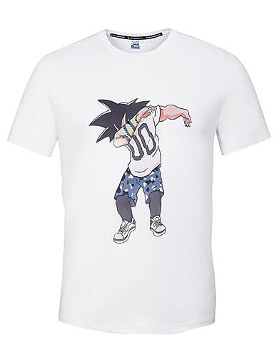 Herrn Freizeit Punk & Gothic Street Schick Strand Baumwolle T-shirt,Rundhalsausschnitt Druck