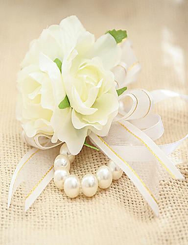 Fleurs De Mariage Forme Libre Petit Bouquet De Fleurs Au Poignet Mariage La Fete Soiree Dentelle