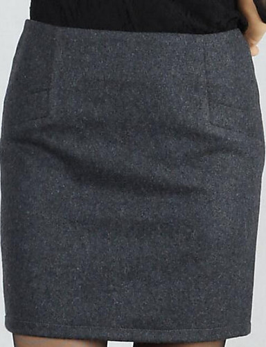Damen Lässig/Alltäglich Über dem Knie Röcke Bodycon, Polyester Geometrisch Winter Herbst