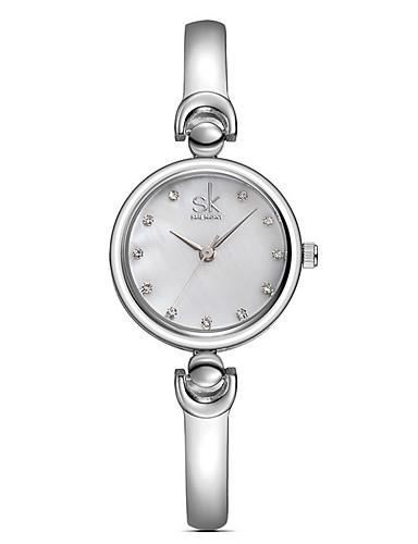 SK Mujer Reloj de Pulsera Reloj Casual / / Aleación Banda Casual / Moda / Elegante Plata / Dorado
