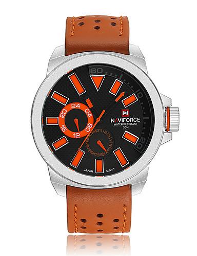 Hombre Reloj Deportivo / Reloj de Moda / Reloj de Vestir Cuero Auténtico Banda Encanto / Casual Múltiples Colores