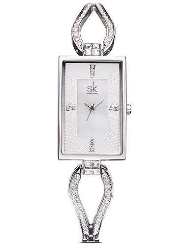 SK Mujer Reloj de Moda / Aleación Banda Casual / Elegante Plata / Oro Rosa