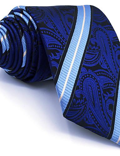 Homens Festa Trabalho Básico Raiom, Gravata - Básico Listrado Estampa Colorida Estampado Cashemere