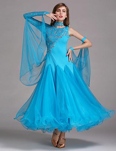 ボールルームダンス ドレス 女性用 性能 スパンデックス / レース / チュール ドレス