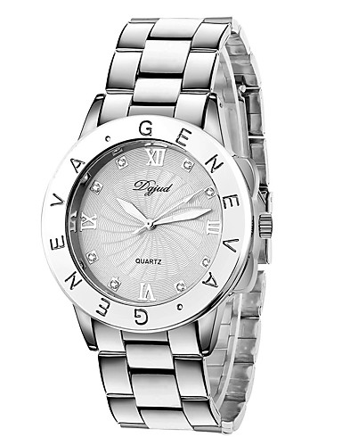 Mujer Reloj Casual / Reloj de Moda / Reloj de Vestir La imitación de diamante Plastic Banda Plata / Dorado / Oro Rosa