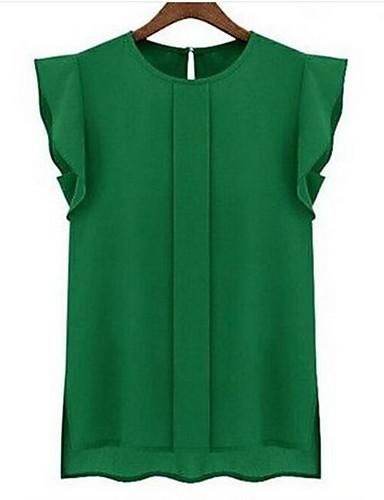 abordables Camisas y Camisetas para Mujer-Mujer Noche Tank Tops Un Color Fucsia M / Verano