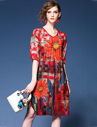 Per donna Per uscire Chiffon Vestito - Con stampe 960202fc1f5