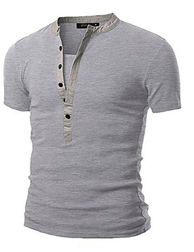 f358af747c2f Ανδρικά T-shirt Αθλητικά Βαμβάκι Μονόχρωμο Στρογγυλή Λαιμόκοψη Σκούρο γκρι  L   Μακρυμάνικο   Άνοιξη   Φθινόπωρο