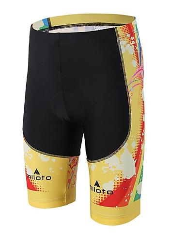 cheap Cycling Clothing-Miloto Men's Women's Cycling Padded Shorts Bike Padded Shorts / Chamois Pants Bottoms 3D Pad Sports Spandex Lycra Yellow / Black Road Bike Cycling Clothing Apparel Relaxed Fit Bike Wear