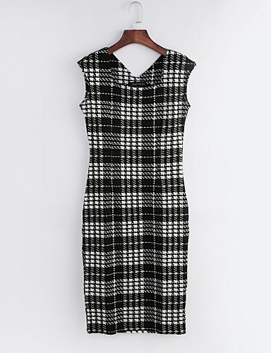 Femme Chic & Moderne Moulante Robe - Style moderne, Tartan