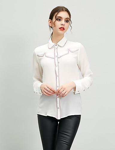 9d48142bb7 Feminino Camisa Social Trabalho Simples Primavera Verão
