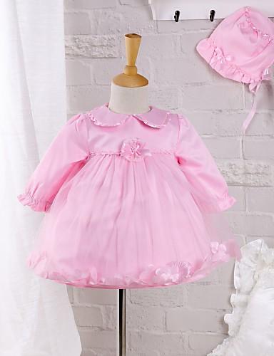 ff4134748f0 Μωρό Κοριτσίστικα Επίσημο ρούχο Εξόδου Μονόχρωμο Μακρυμάνικο Φόρεμα ...