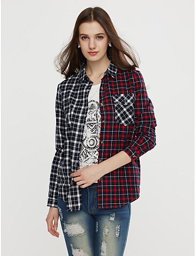 Majica Žene Kolaž Kragna košulje Pamuk
