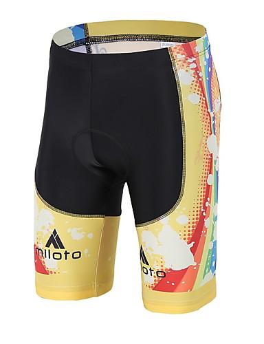 cheap Cycling Clothing-Miloto Men's Women's Cycling Padded Shorts Bike Padded Shorts / Chamois Pants Bottoms 3D Pad Sports Spandex Lycra Yellow / Black Clothing Apparel Bike Wear / High Elasticity