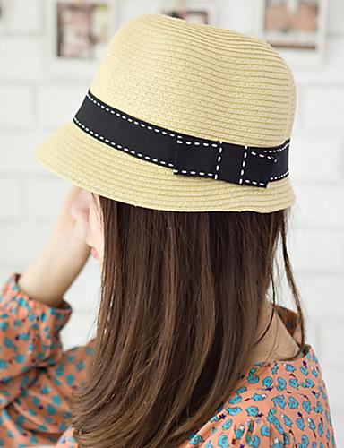 5771f0a92b545 Mujer Sombrero Playero Sombrero de Paja Sombrero para el sol - Vintage  Bonito Casual Un Color 5577532 2019 –  7.99