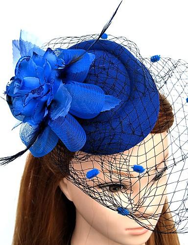 abordables Chapeau & coiffure-Plume / Filet Fascinators / Fleurs / Chapeaux avec Fleur 1pc Mariage / Occasion spéciale Casque