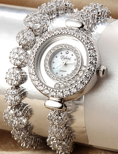 voordelige Armband Horloge-Dames Modieus horloge Polshorloge Kwarts Legering Band Wit Goud