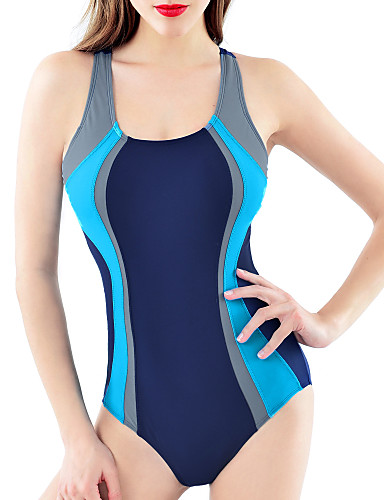 Mulheres Nadador Maiô - Listrado