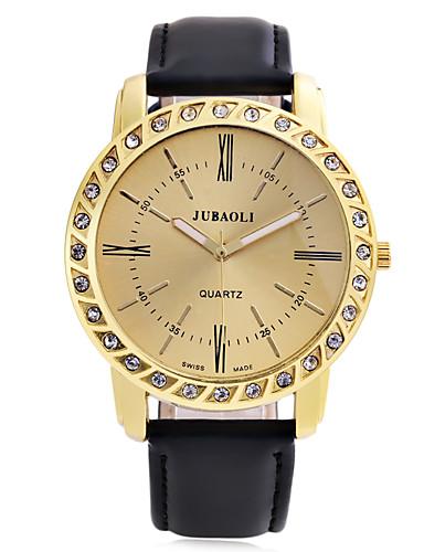 JUBAOLI Homens Relógio de Pulso Quartzo Relógio Casual Couro Banda Analógico Casual Fashion Elegante Preta - Branco Preto Azul / Aço Inoxidável