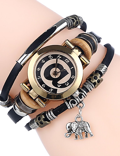 Women's Bracelet Watch Quartz Casual Watch Cool Leather Band Analog Ladies Casual Black / White / Blue - Coffee Brown Red One Year Battery Life / SSUO 377