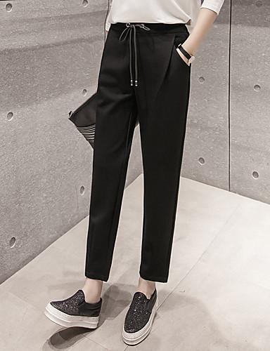 Dámské Jednoduchý Není elastické Kalhoty chinos Kalhoty Štíhlý High Rise Jednobarevné