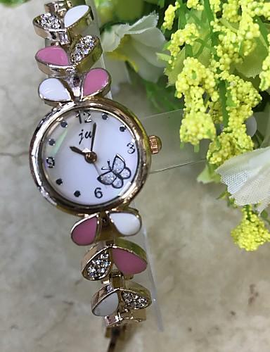 Mulheres Bracele Relógio / Relógio de Pulso / Simulado Diamante Relógio Chinês imitação de diamante / / Lega Banda Casual / Fashion Ouro Rose