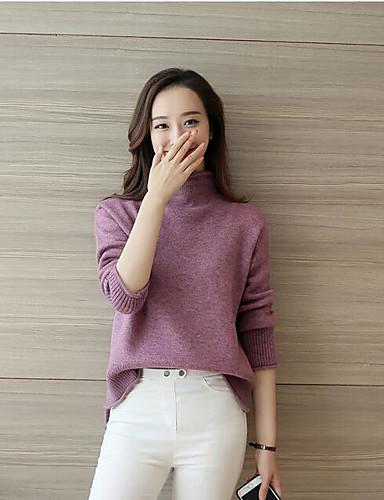 여성용 데이트 울 루즈핏 드레스 - 솔리드 미니 / 여름