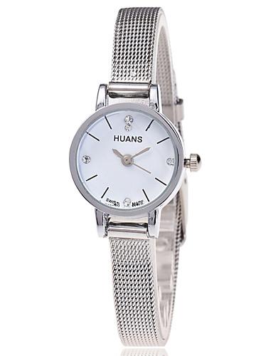 Mulheres Quartzo Relógio de Pulso Legal Aço Inoxidável Banda Casual / Fashion Prata / Dourada