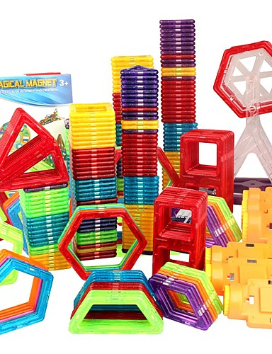 billige Leker og hobbyer-Magnetisk blokk Magnetiske fliser Byggeklosser 31 48 98 109 pcs Bil Robot Pariserhjul kompatibel Legoing Magnetisk Originale Gutt Jente Leketøy Gave