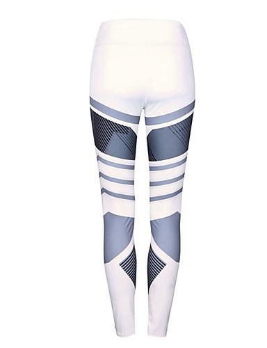 49eea09e09bf1a Women's Cross - spliced / Sporty Legging - Striped, Print Mid Waist / Sporty  Look / Skinny