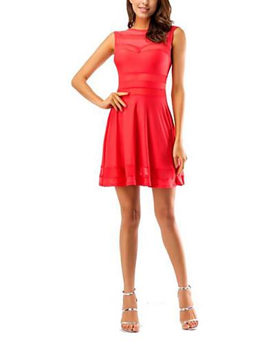 Mulheres Bandagem Feriado Moda de Rua Bainha Vestido Sólido Cintura Alta Mini