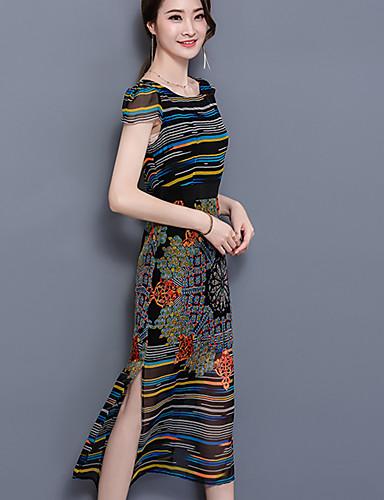 371dde80626 Γυναικείο Καθημερινά Μεγάλα Μεγέθη Απλό Γραμμή Α Φαρδιά Φόρεμα ...