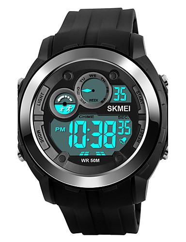 SKMEI Homens Relógio Esportivo Relógio Militar Relógio de Pulso Japanês Digital 50 m Impermeável Alarme Calendário Silicone Banda Digital Fashion Preta / Verde - Cinzento Verde Azul Dois anos Ciclo