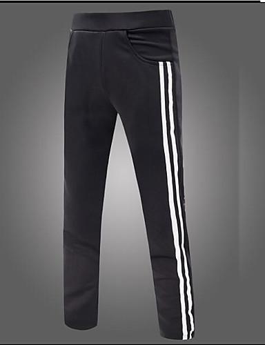 Homens Moda de Rua Reto Solto Calças Esportivas Chinos Calças Estampado