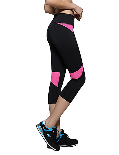 f851bccf3 Women's Running Pants Sports Patchwork Elastane 3/4 Tights Yoga Camping /  Hiking Exercise & Fitness Activewear Breathable Soft Sweat-wicking  Comfortable ...