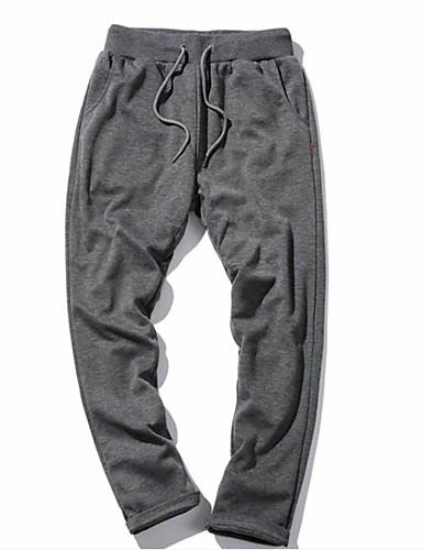 Pánské Aktivní strenchy Kalhoty chinos Tepláky Kalhoty Volné Štíhlý Mid Rise Jednobarevné