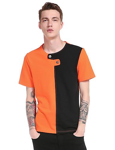 Homens Camiseta - Esportes Estampa Colorida Decote Redondo