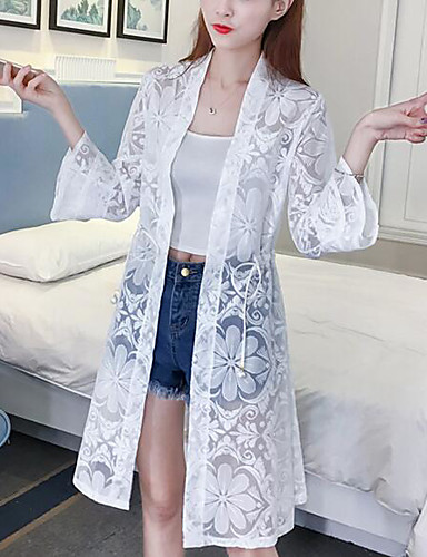 4ef8f0afa Women's Daily Beach Sexy Boho Spring Summer Cloak/Capes,Solid Cowl Long  Sleeve Long