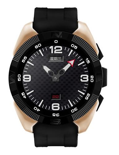 Herren Sportuhr Smart Uhr digital Herzschlagmonitor GPS-Uhr PU Band Schwarz