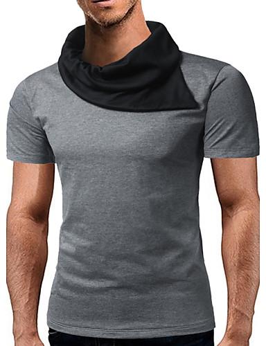 Pánské - Barevné bloky Tričko Bavlna