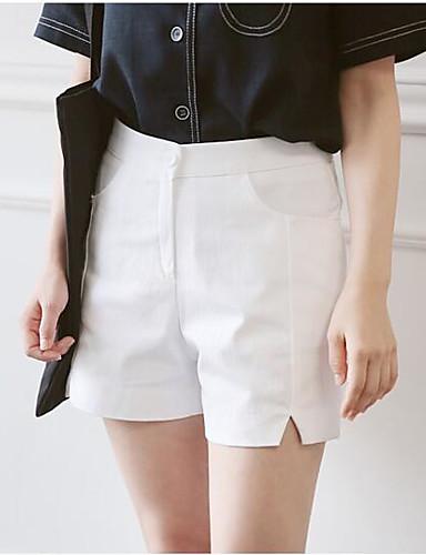 Dámské Jednoduchý Mikro elastické Kalhoty chinos Kalhoty Volné High Rise Čistá barva Jednobarevné