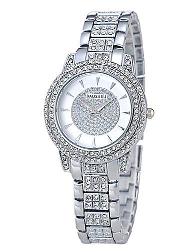 Dámské Křemenný Vykládané hodinky Hodinky na běžné nošení Pozlaceno 18k Kapela Luxus Módní Stříbro Zlatá Růžové zlato
