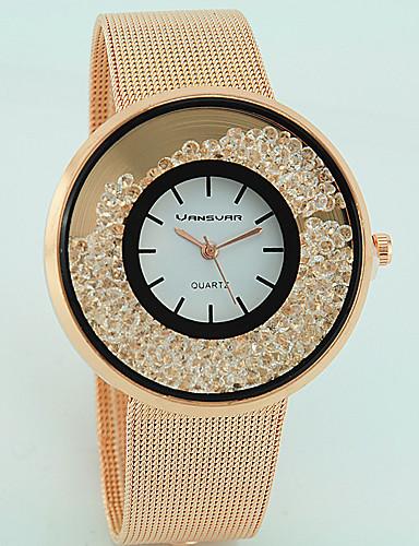 5b41d6cfdf4 Mulheres Relógios Femininos com Cristais Quartzo Prata   Dourada   Ouro  Rose imitação de diamante Analógico