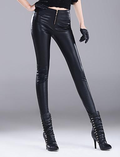 Damen Sexy Einfach Street Schick Hohe Hüfthöhe Mikro-elastisch Chinos Skinny Hose einfarbig