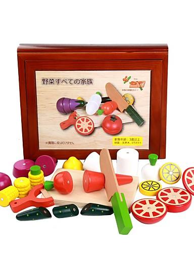 voordelige Speelgoedgereedschap-Displaymodellen Doen alsof-spelletjes Groente Magnetisch handig Grip Kinderen / Hout