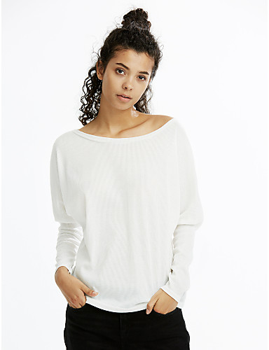 Women 39 s cotton t shirt solid colored boat neck 5492025 for Boat neck t shirt women s